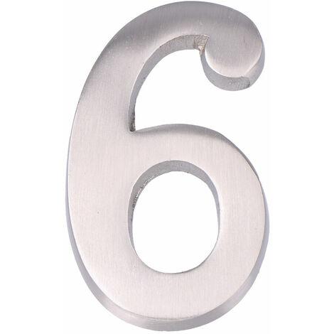 """main image of """"EDM Numero 6 niquel mate 10cm fijacion invisible"""""""