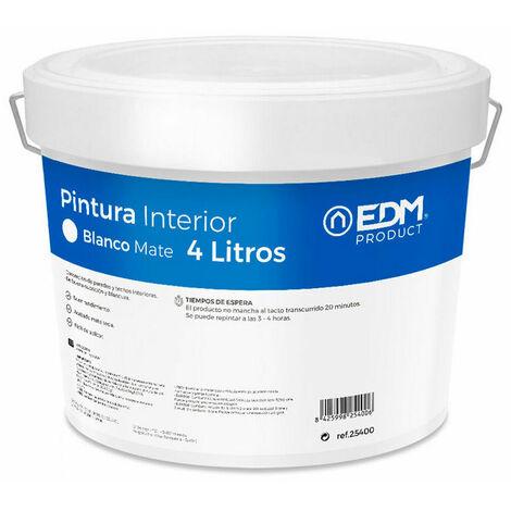 EDM Pintura plastica mate interior blanca 4l edm