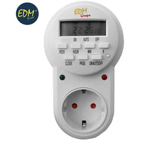 EDM PROGRAMADOR ELECTRICO ENCHUFE DIGITAL SEMANAL 3500W