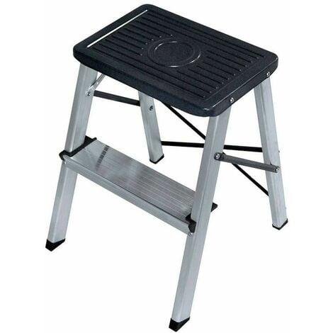 EDM Taburete aluminio 2 peldaños segun une en 14183 edm