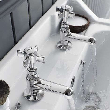 EDWARDIAN HOT & COLD TWIN BASIN TAPS