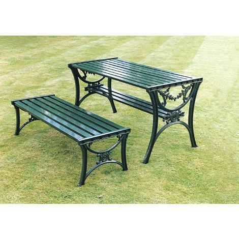 Edwardian Table British Made, High Quality Cast Aluminium Garden Furniture