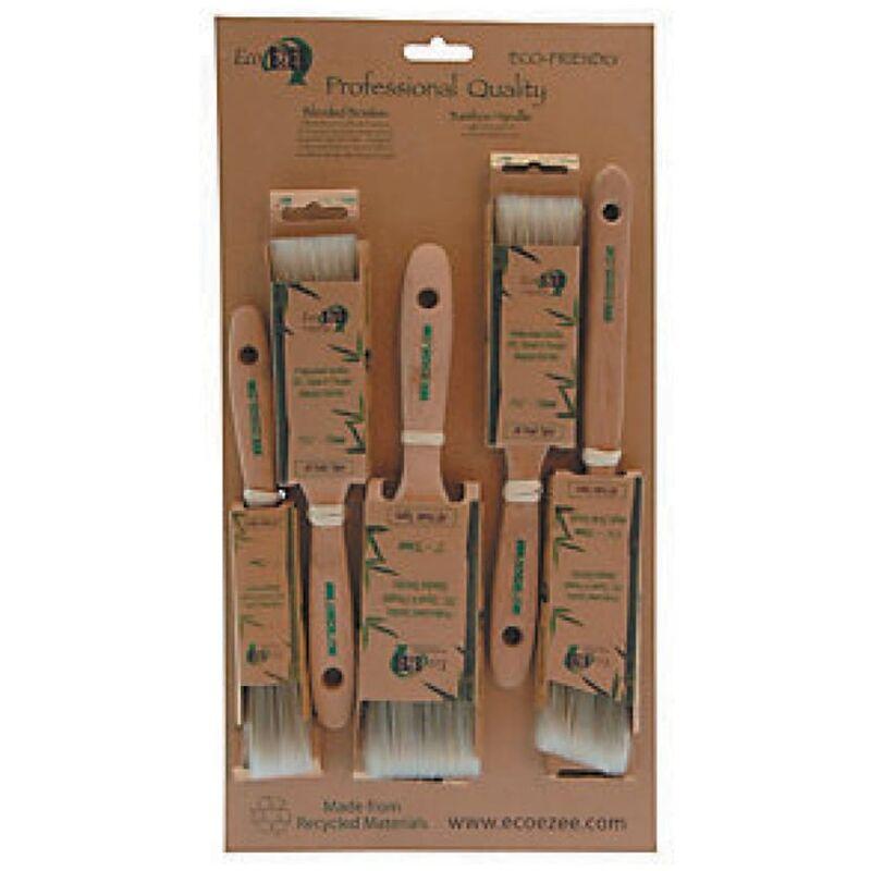 Image of Round Paint Brush Set, Synthetic/Natural Bristle, Set of 5 - Eco Ezee