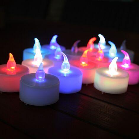 Efecto de llama de 24 velas LED multicolores