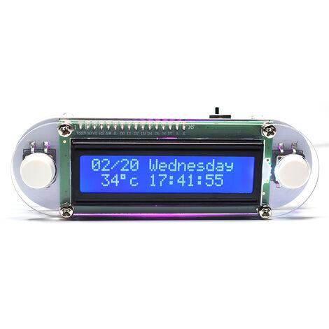 Efecto luz de las velas LCD1602 vibracion del reloj DIY kit de bricolaje electronica digital del reloj DIY del reloj LED Digital reloj electronico de bricolaje kits Conjunto