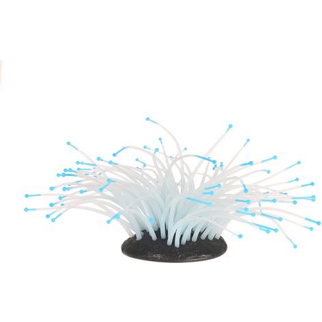Effet Brillant D'Anemone De Mer Artificielle Pour Aquarium, Bleu