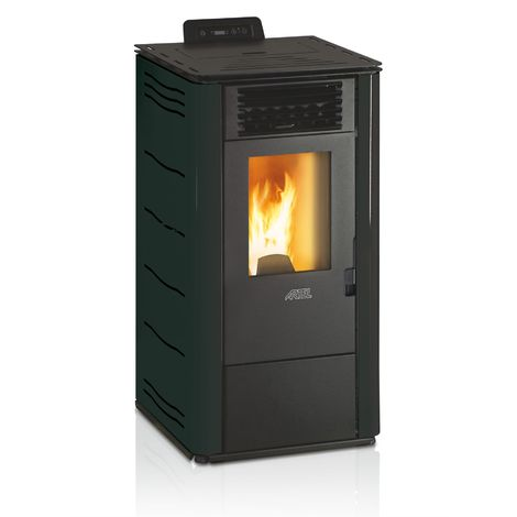 Efficient Powerful Eco Heating Pellet Boiler Heater 10,1kW Power Black Color