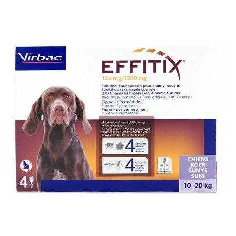 Effitix Spot-On Moyen Chien (10-20 kg) - 4 pipettes