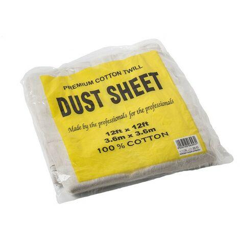 EFIXCOTTON1212 - Cotton Twill Dust Sheet 12'x12'