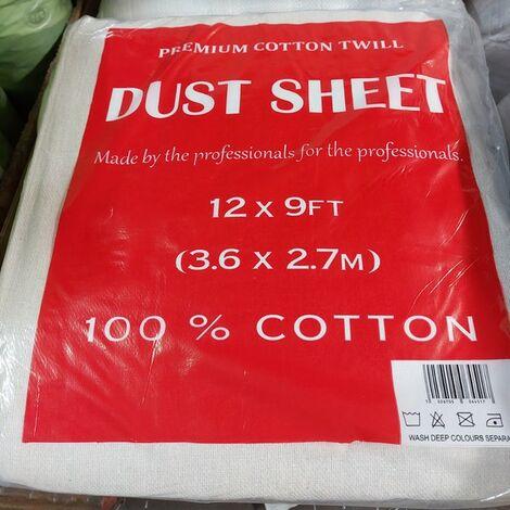 EFIXCOTTON129 - Cotton Twill Dust Sheet 12'x9'
