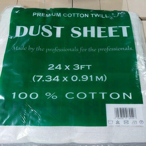 EFIXCOTTON243 - Dust Sheet Cotton Twill Staircase 24' x 3' 7.2m x 0.9m