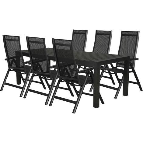 Efour Gartenmobel Set 1 Tisch Und 6 Stuhle 51 10119