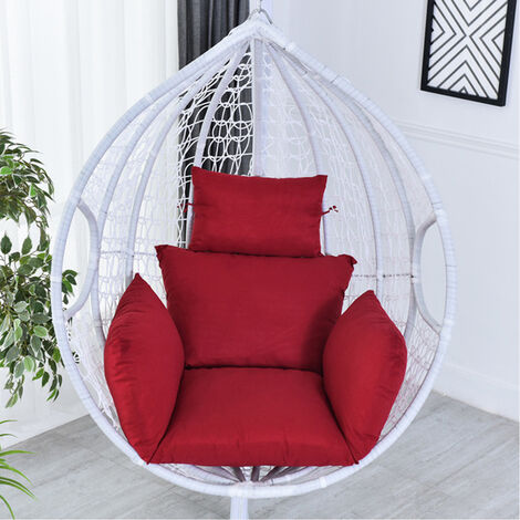 Egg Chair Seat Pad Pillow Swing Chair Cushion Mat Hanging Indoor Outdoor Patio(winered Only 1PCS Cushion)