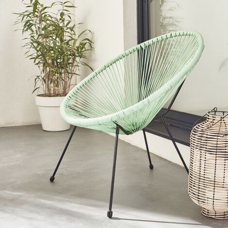 Egg designer chair - Acapulco Black - PVC designer string chair