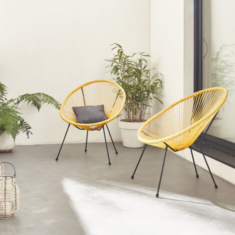 Egg designer chairs - Acapulco Duck Blue - PVC designer string chairs