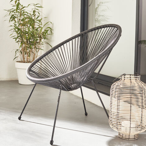 "main image of ""Egg designer string chair - Acapulco"""