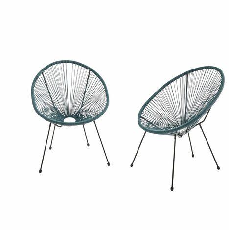 "main image of ""Set of 2 egg designer string chairs - Acapulco"""