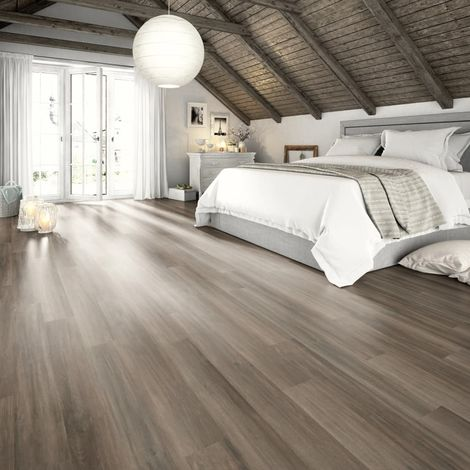 Egger Planches de plancher stratifié 24,8 m² 7 mm Grey Ampara Oak