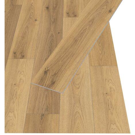 Egger Planches de plancher stratifié 31,84 m² 8 mm Oak Trilogy Natural