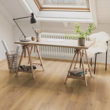 Egger Planches de plancher stratifié 77,61 m² 8 mm Oak Trilogy Natural