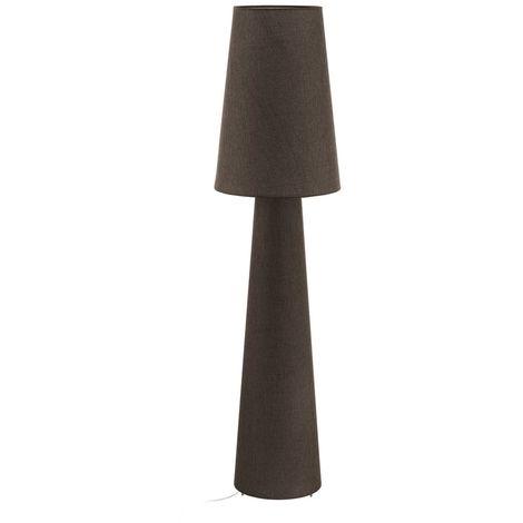 EGLO 2 Brown Table Lamp Light E27 Bulb Fabric Lamp shades Fitting