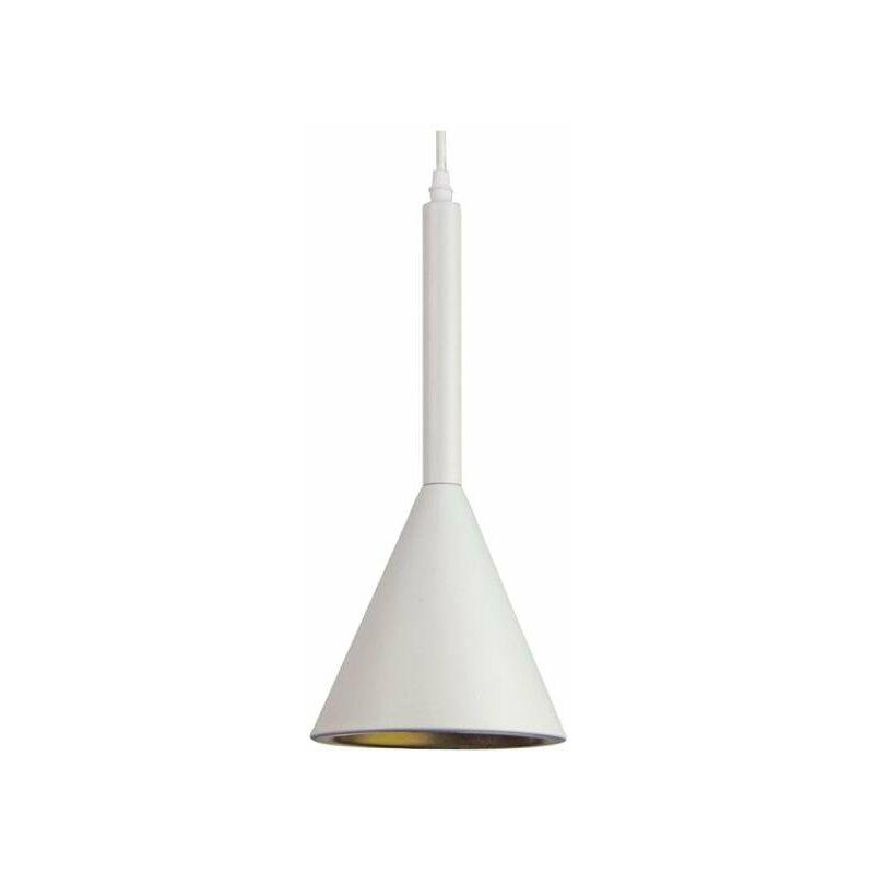 V-tac - portalampada lampadario in alluminio cono 220-240 volt CE E27 IP20 bianco interno tec 620789