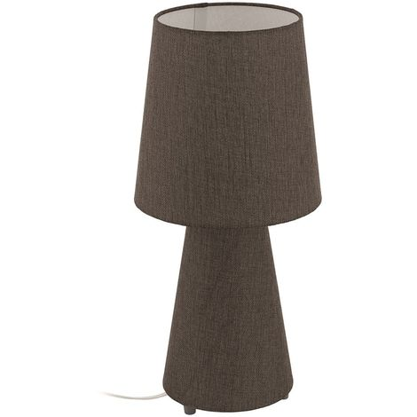 EGLO Carpara Linen Table Desk Lamp Light Home Lighting With Fabric Shades