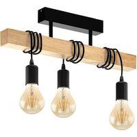 EGLO LED Spotleuchte Townshend 3 mit 2 Lampen Holz Weiß und Beige