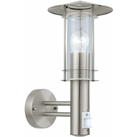 EGLO ES/E27 Outdoor Wall Light IP44 PIR Sensor - 30185