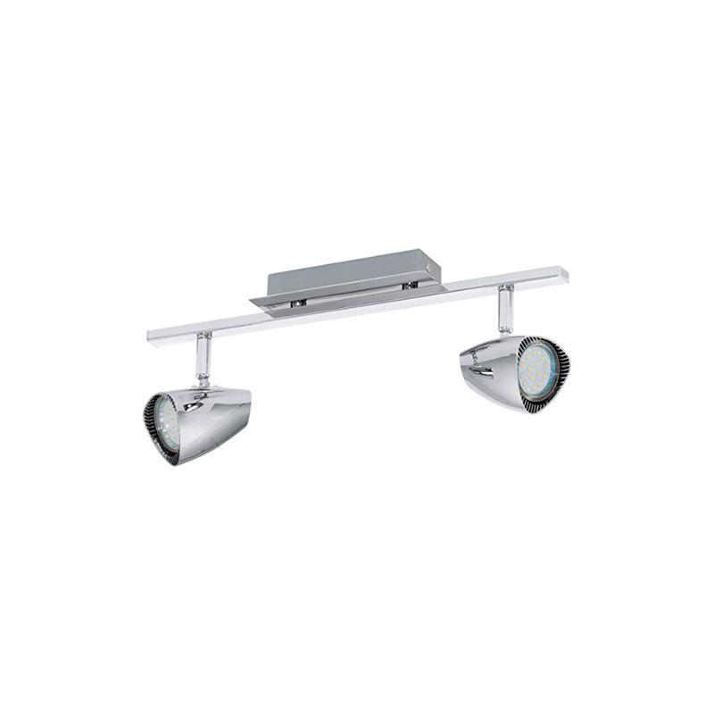 EGLO 93673 travi Spotlight, metallo, GU10, Argento [Classe di efficienza energetica A+]