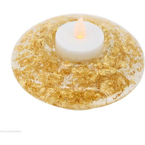 Eglo Kerzenlicht LED im dekorativen Glas - Goldsplitter