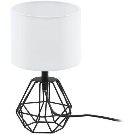 EGLO Lámpara de mesa Carlton 2 blanco y negro