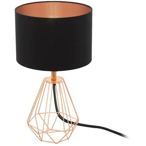 EGLO Lámpara de mesa Carlton 2 cobre