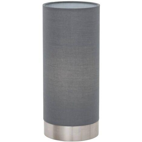 EGLO Lámpara de mesa Pasteri gris y níquel mate