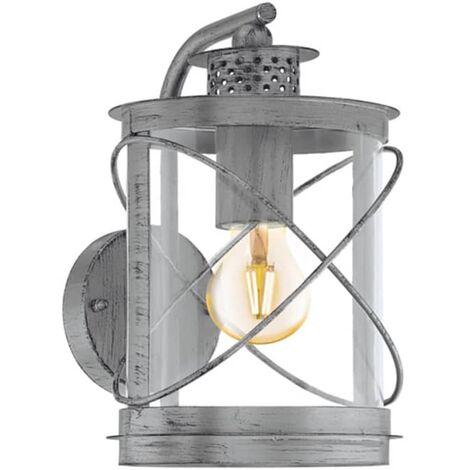 EGLO Lámpara de pared exterior Hilburn 1 plateada 60 W 94866