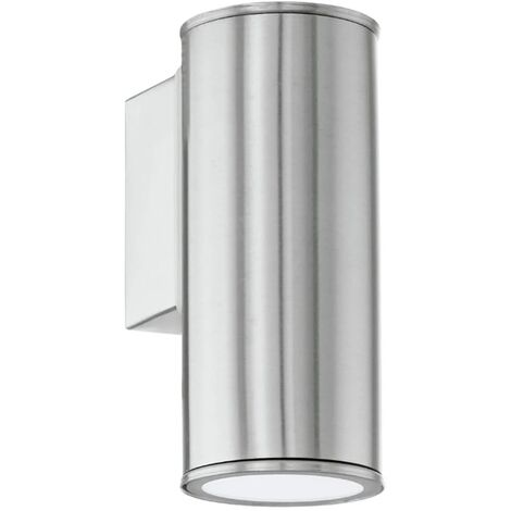 EGLO Lámpara de pared LED exterior Riga plata 94106