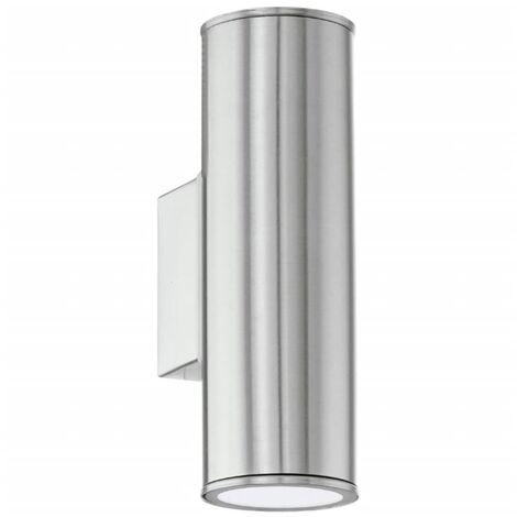 EGLO Lámpara de pared LED exterior Riga plateada 94107 - Plateado