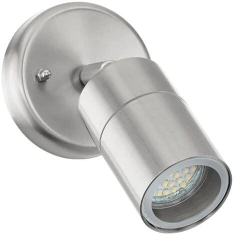 EGLO Lámpara de pared LED exterior Stockholm 1 5 W plateado 93268 - Plateado