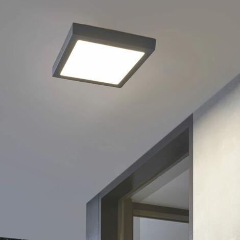 EGLO Lámpara LED de pared/techo para jardín Argolis gris antracita 22W