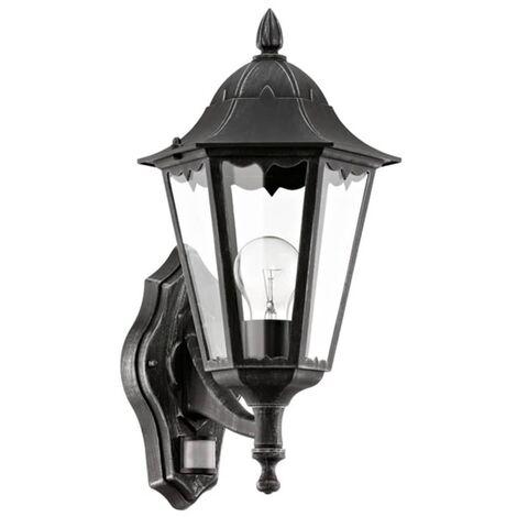 Eglo Lampe Murale Exterieur Navedo Avec Detecteur 60 W Noir