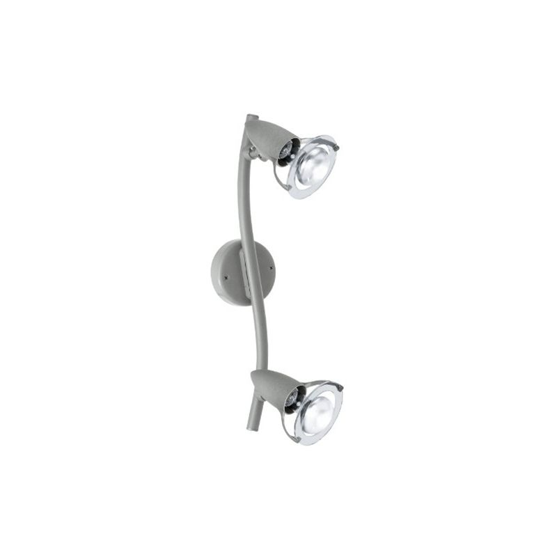 Lydia Faretto d'illuminazione da superficie Grigio E14 40 W [Classe di efficienza energetica D] - Eglo