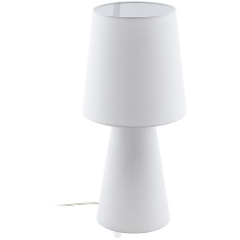 EGLO Modern Fabric Table Lamp And White Lamp Shade Of Linen