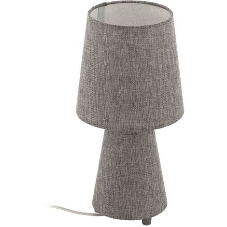 EGLO New Lamp Bedside Table Light Lamp With Classy Fabric Shade