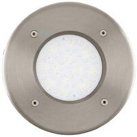 EGLO Outdoor LED Inground Spotlight Lamedo 2.5 W Round Silver 93482
