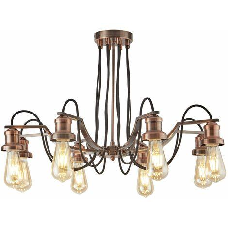EGLO Pendant Light Townshend 4 Lamps Wood Black and Beige
