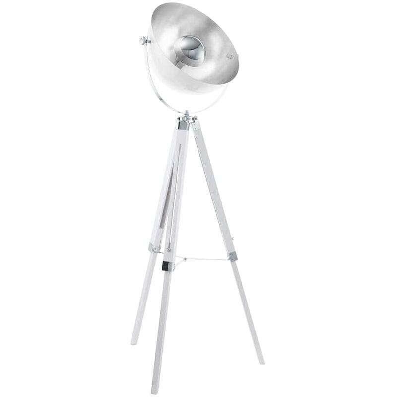 EGLO Stehleuchte COVALEDA Weiß und Silber 49877