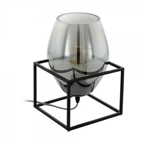 EGLO Tl/1 E27 Schwarz/Rauchglas Vintage One Light Black Table Lamp