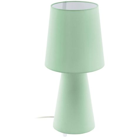 EGLO Vintage Fabric Table Lamp Green Lamp Shade For Children Room , Kids Room