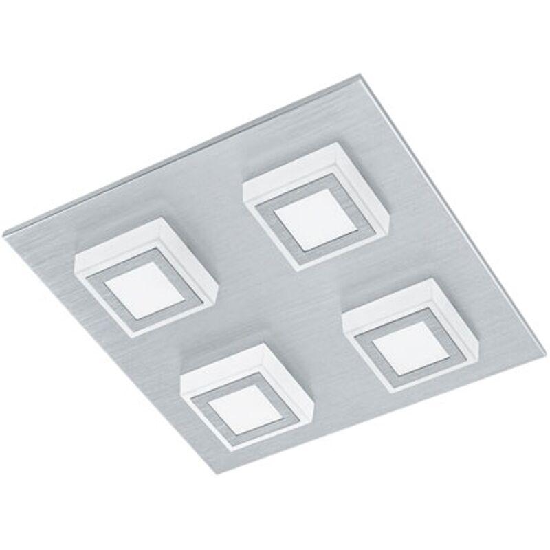 EGLO Deckenleuchte Masiano Aluminium 27cm 4x3,3W