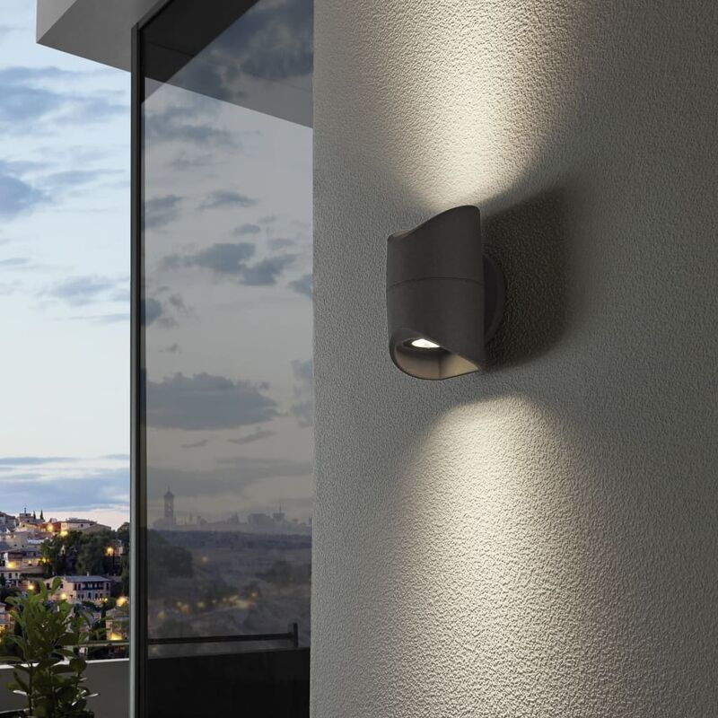 Außenwandleuchte LED Abrantes 2×6 W Anthrazit - Eglo